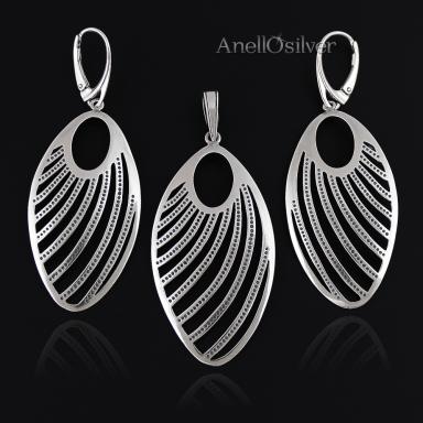 Oxidized Silver Set