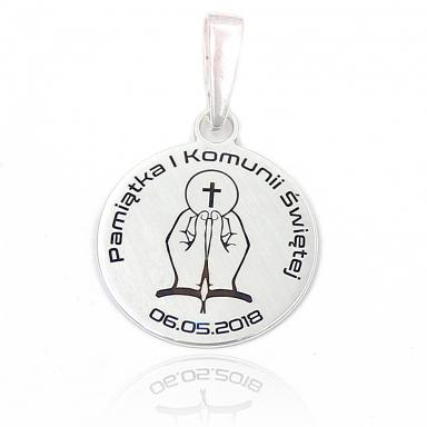Srebrny Wisiorek Pamiątka I Komunii Świętej