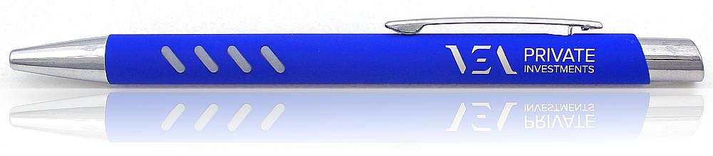 Metallkugelschreiber mit Gummi Individueller Laser Gravur 50-500 Stück 10 Farben